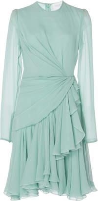 Giambattista Valli Draped Silk-Chiffon Mini Dress