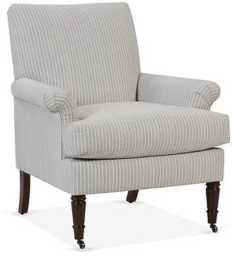 One Kings Lane Avery Roll-Arm Accent Chair - Gray