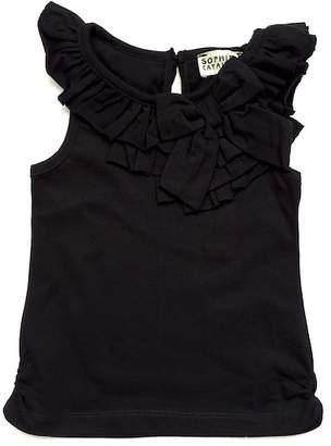 Sophie Catalou Black Ruffle Knit Tank (Toddler, Little Girls, & Big Girls)