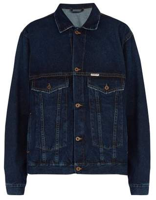 Off-white - Oversized Denim Jacket - Mens - Indigo