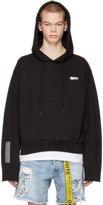 Off-White Black Crop Hoodie