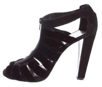 Pierre Hardy Caged Velvet Sandals