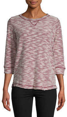 Karen Scott Marled Three-Quarter Sleeve Top