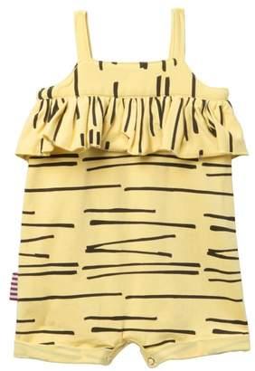 SOOKIBABY Tiger Stripe Ruffle Romper (Baby Girls)