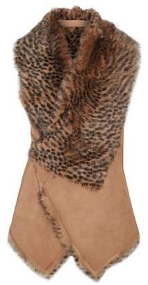 Drome Reversible Leopard-Print Shearling Vest
