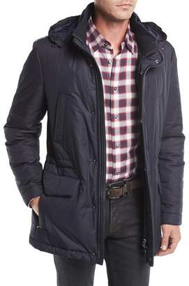Corneliani Technical Hooded Car Coat