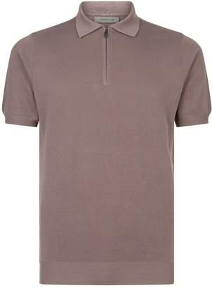 Corneliani Cotton Zip-Neck Polo Shirt