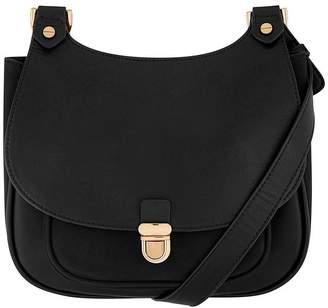 Accessorize Kelly Curved Top Saddle Bag – Black