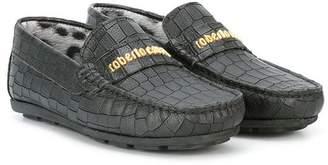 Roberto Cavalli TEEN textured loafers