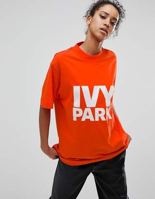 Ivy Park Logo T-Shirt In Tomato Red
