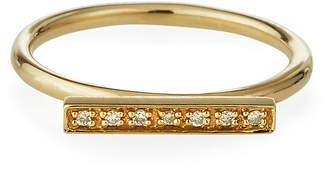 Sydney Evan 14k Diamond Top-Pave Bar Ring, Size 7