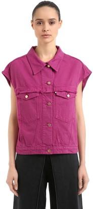 Aalto Oversize Cap Sleeve Cotton Denim Jacket