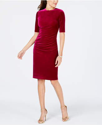 Vince Camuto Velvet Ruched Bodycon Dress