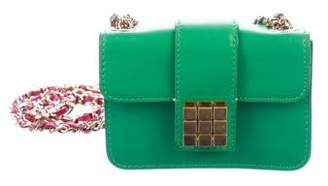 DSQUARED2 Leather Chain-Link Crossbody Bag