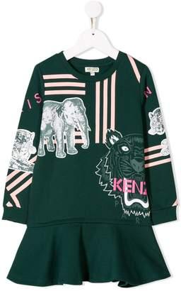 Kenzo printed peplum dress