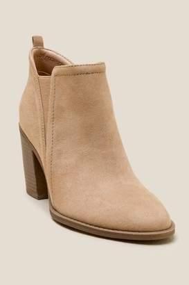 francesca's Remy Faux Suede Ankle Boot - Tan