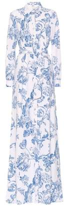 Oscar de la Renta Printed silk georgette maxi dress