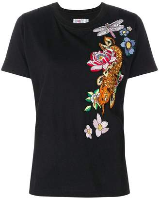 Ash embroidered T-shirt