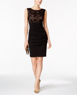 Connected Lace Sheath Dress $79 thestylecure.com