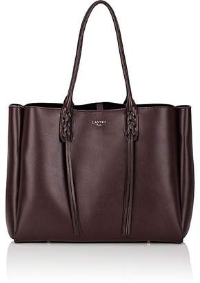 Lanvin Women's Tasseled-Handle Small Shopper Tote Bag $1,550 thestylecure.com