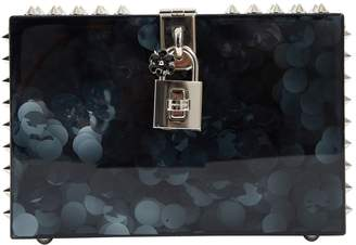 Dolce & Gabbana Anthracite Plastic Clutch Bag