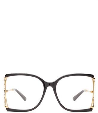 Gucci Oversized Square Acetate Glasses - Womens - Tortoiseshell