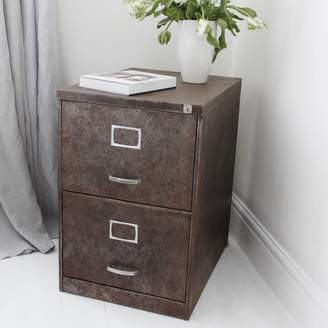 Urban Grain Blake Vintage Industrial Two Drawer Filing Cabinet