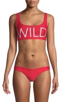 Wildfox Couture Logo Bikini Top