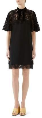 Gucci Lace Detail Jersey Dress