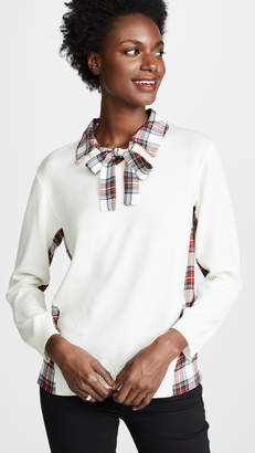 Moschino Contrast Collared Blouse