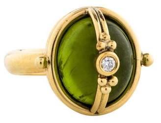 Temple St. Clair 18K Diamond & Peridot Locket Ring