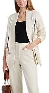 Leo & Sage WOMEN'S CONTRAST-STITCHED CABLE-KNIT CARDIGAN