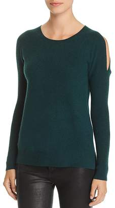 Bloomingdale's C by Cold-Shoulder Cashmere Sweater - 100% Exclusive