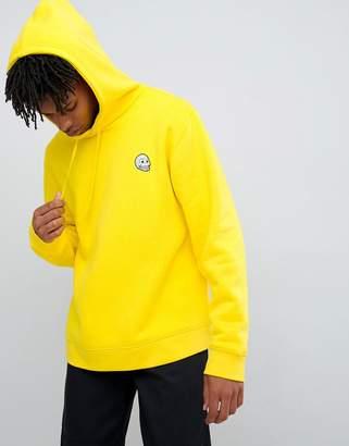 Cheap Monday tiny logo hoodie yellow