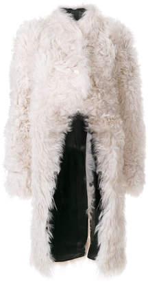 J.W.Anderson oversized fur jacket