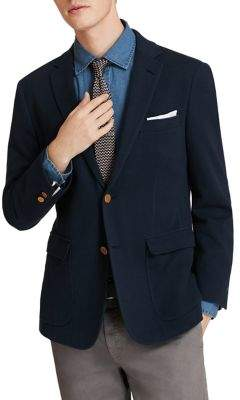 Brooks Brothers Red Fleece Pique Cotton Blazer