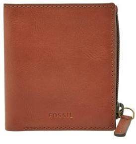 Fossil Philip Coin Pocket Bifold Wallet Cognac