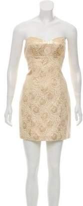 Tibi Metallic Cocktail Dress