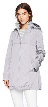 Via Spiga Women's A-line Lightweight Packable Rain Jacket