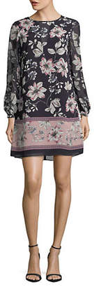 Vince Camuto Floral-Print Chiffon Shift Dress