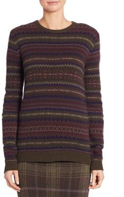 Ralph Lauren Collection Cashmere Fair Isle Sweater $1,090 thestylecure.com