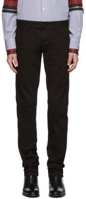 DSQUARED2 Black Garment Dyed Slim Jeans