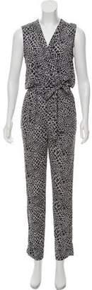 Diane von Furstenberg Printed Sleeveless Jumpsuit