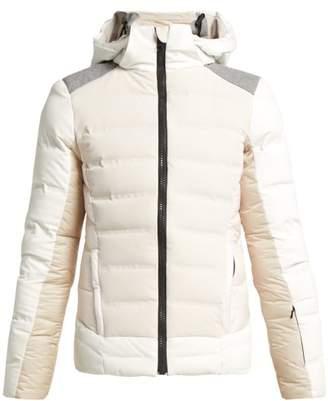Capranea - Amestris Contrast Shoulder Hooded Ski Jacket - Womens - White