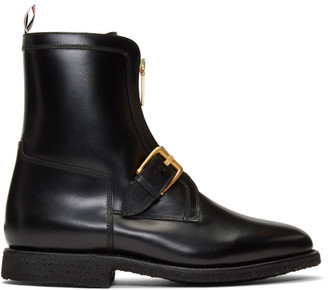 Thom Browne Black Ankle Hunting Boots
