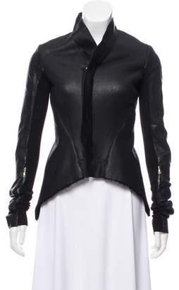 Rick Owens Asymmetrical Zip-Up Jacket