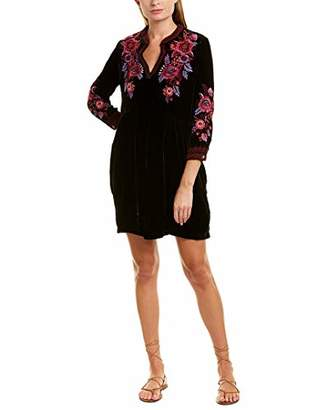 Johnny Was JWLA By Women's Embroidered Boho Henley Dress