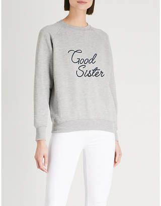 Good American Good Sister cotton-jersey sweatshirt