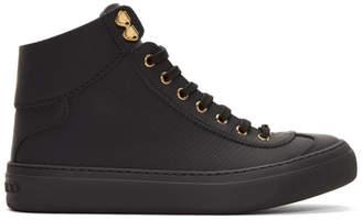Jimmy Choo Black Argyle High-Top Sneakers