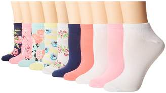 Betsey Johnson 10-Pack Floral Low Cuts Women's Low Cut Socks Shoes